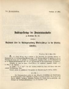 42. Provinziallandtag, Drucksache No. 40A