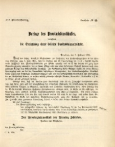42. Provinziallandtag, Drucksache No. 41