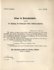 42. Provinziallandtag, Drucksache No. 143