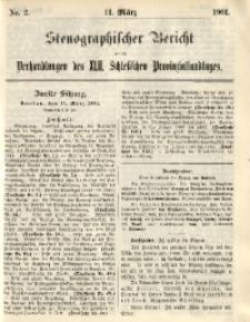 Stenographischer Bericht über die Verhandlungen des 42. Schlesischen Provinziallandtages, 1901, No. 2