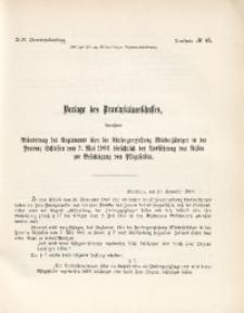43. Provinziallandtag, Drucksache No. 45