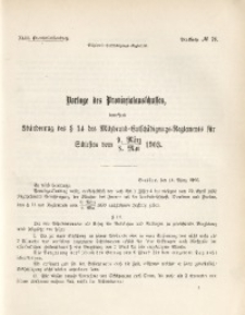 43. Provinziallandtag, Drucksache No. 78