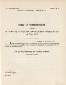 45. Provinziallandtag, Drucksache No. 3