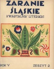 Zaranie Śląskie, 1929, R. 5, z. 2