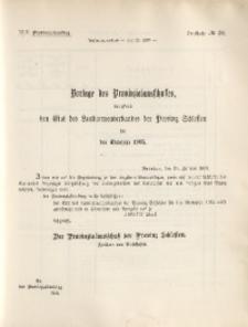 45. Provinziallandtag, Drucksache No. 30