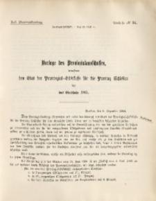 45. Provinziallandtag, Drucksache No. 34