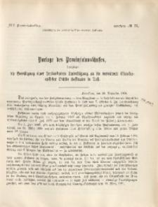 45. Provinziallandtag, Drucksache No. 73