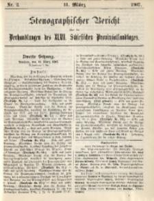 Stenographischer Bericht über die Verhandlungen des 47. Schlesischen Provinziallandtages, 1907, No. 2