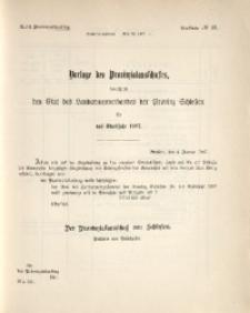 47. Provinziallandtag, Drucksache No. 28