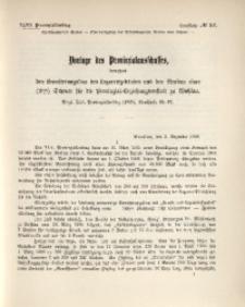 47. Provinziallandtag, Drucksache No. 52