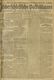Oberschlesische Volksstimme, 1909, Jg. 35, Nr. 260