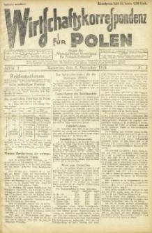 Wirtschaftskorrespondenz für Polen, 1924, Jg. 1, nr 6