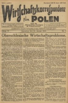 Wirtschaftskorrespondenz für Polen, 1925, Jg. 2, nr 7