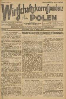 Wirtschaftskorrespondenz für Polen, 1925, Jg. 2, nr 19