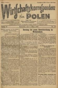 Wirtschaftskorrespondenz für Polen, 1925, Jg. 2, nr 20