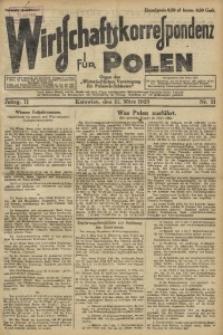Wirtschaftskorrespondenz für Polen, 1925, Jg. 2, nr 21