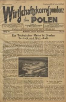Wirtschaftskorrespondenz für Polen, 1925, Jg. 2, nr 38