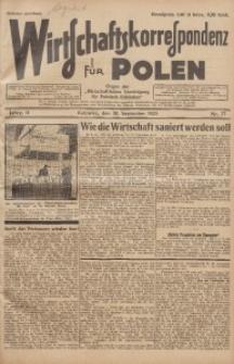 Wirtschaftskorrespondenz für Polen, 1925, Jg. 2, nr 77