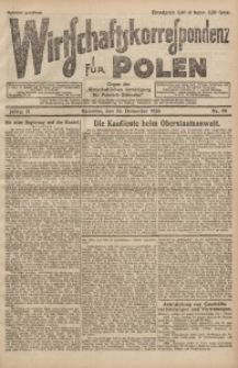 Wirtschaftskorrespondenz für Polen, 1925, Jg. 2, nr 99