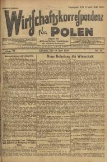 Wirtschaftskorrespondenz für Polen, 1926, Jg. 3, nr 29
