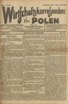 Wirtschaftskorrespondenz für Polen, 1926, Jg. 3, nr 32