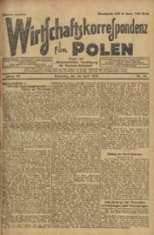 Wirtschaftskorrespondenz für Polen, 1926, Jg. 3, nr 33