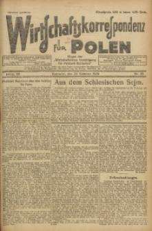 Wirtschaftskorrespondenz für Polen, 1926, Jg. 3, nr 85
