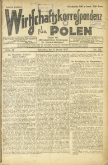 Wirtschaftskorrespondenz für Polen, 1927, Jg. 4, nr 1-2