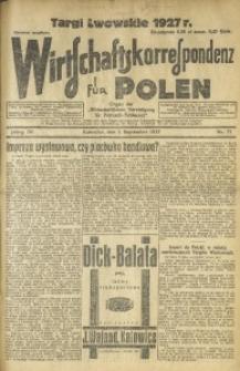 Wirtschaftskorrespondenz für Polen, 1927, Jg. 4, nr 71
