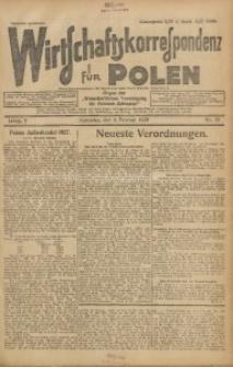 Wirtschaftskorrespondenz für Polen, 1928, Jg. 5, nr 12