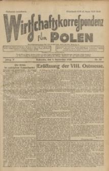 Wirtschaftskorrespondenz für Polen, 1928, Jg. 5, nr 60 [włśc. 61]