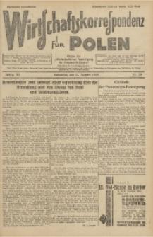 Wirtschaftskorrespondenz für Polen, 1929, Jg. 6, nr 39