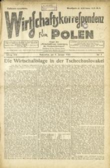 Wirtschaftskorrespondenz für Polen, 1930, Jg. 7, nr 1