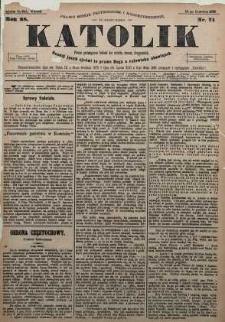 Katolik, 1895, R. 28, nr 71