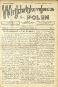 Wirtschaftskorrespondenz für Polen, 1930, Jg. 7, nr 5