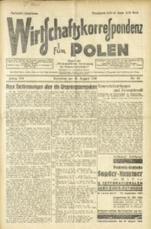 Wirtschaftskorrespondenz für Polen, 1930, Jg. 7, nr 34