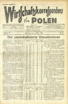 Wirtschaftskorrespondenz für Polen, 1932, Jg. 9, nr 6