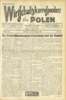 Wirtschaftskorrespondenz für Polen, 1932, Jg. 9, nr 21