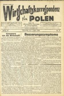 Wirtschaftskorrespondenz für Polen, 1934, Jg. 11, nr 9