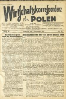 Wirtschaftskorrespondenz für Polen, 1934, Jg. 11, nr 23