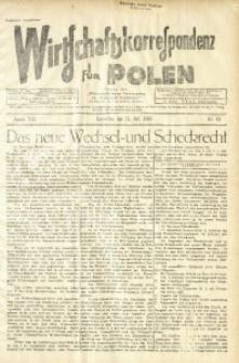 Wirtschaftskorrespondenz für Polen, 1936, Jg. 13, nr 19