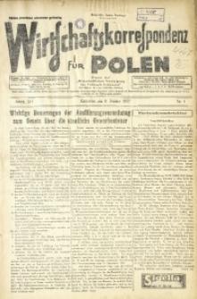 Wirtschaftskorrespondenz für Polen, 1937, Jg. 14, nr 1