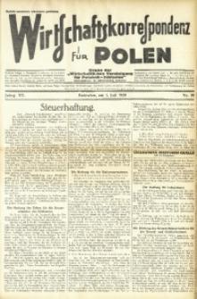 Wirtschaftskorrespondenz für Polen, 1938, Jg. 15, nr 19