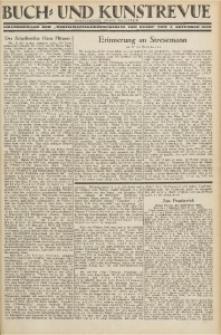 """Buch- und Kunstrevue. Gratisbeilage der """"Wirtschaftskorrespondenz für Polen"""", 2. November 1929"""
