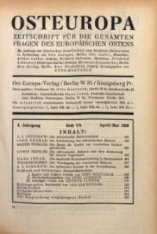 Osteuropa, 1928/1929, Jg. 4, H. 7/8