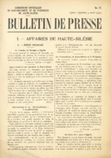 Bulletin de Presse, 1920, No. 27