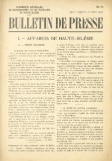 Bulletin de Presse, 1920, No. 30
