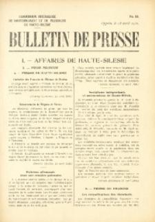 Bulletin de Presse, 1920, No. 58