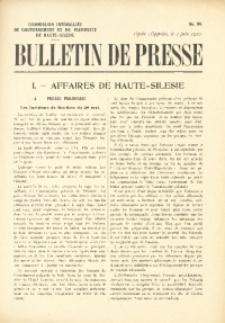Bulletin de Presse, 1920, No. 99
