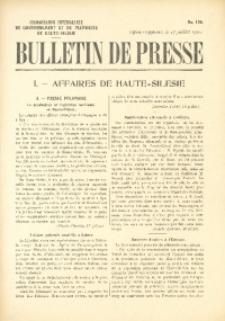 Bulletin de Presse, 1920, No. 136